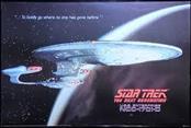 STAR TREK POSTER THE NEXT GENERATION USS ENTERPRISE NCC-1701-D
